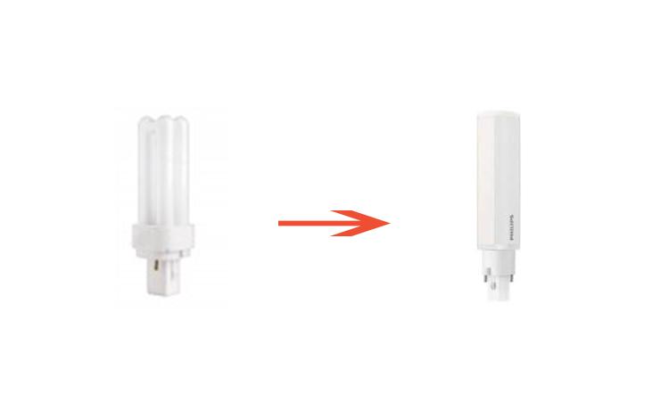 Substitut lampes fluocompactes à ballast séparé